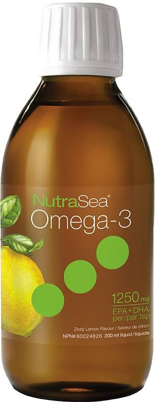 Ascenta NutraSea Omega-3 Liquid, Zesty Lemon, 6.8 fl oz
