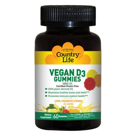 Country Life Vegan D3 Gummies Dietary Supplement - 60ct