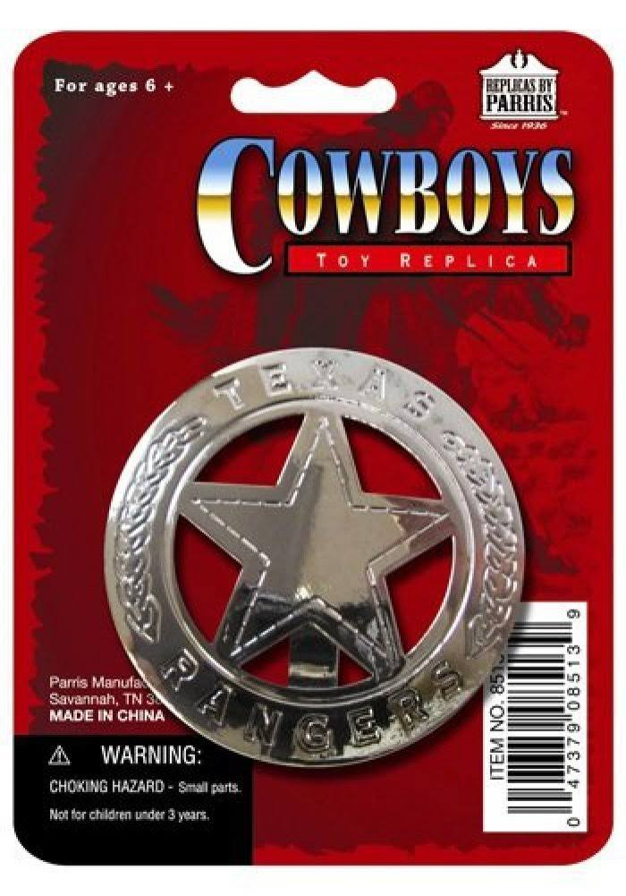 Parris Texas Ranger Badge Toys Replica