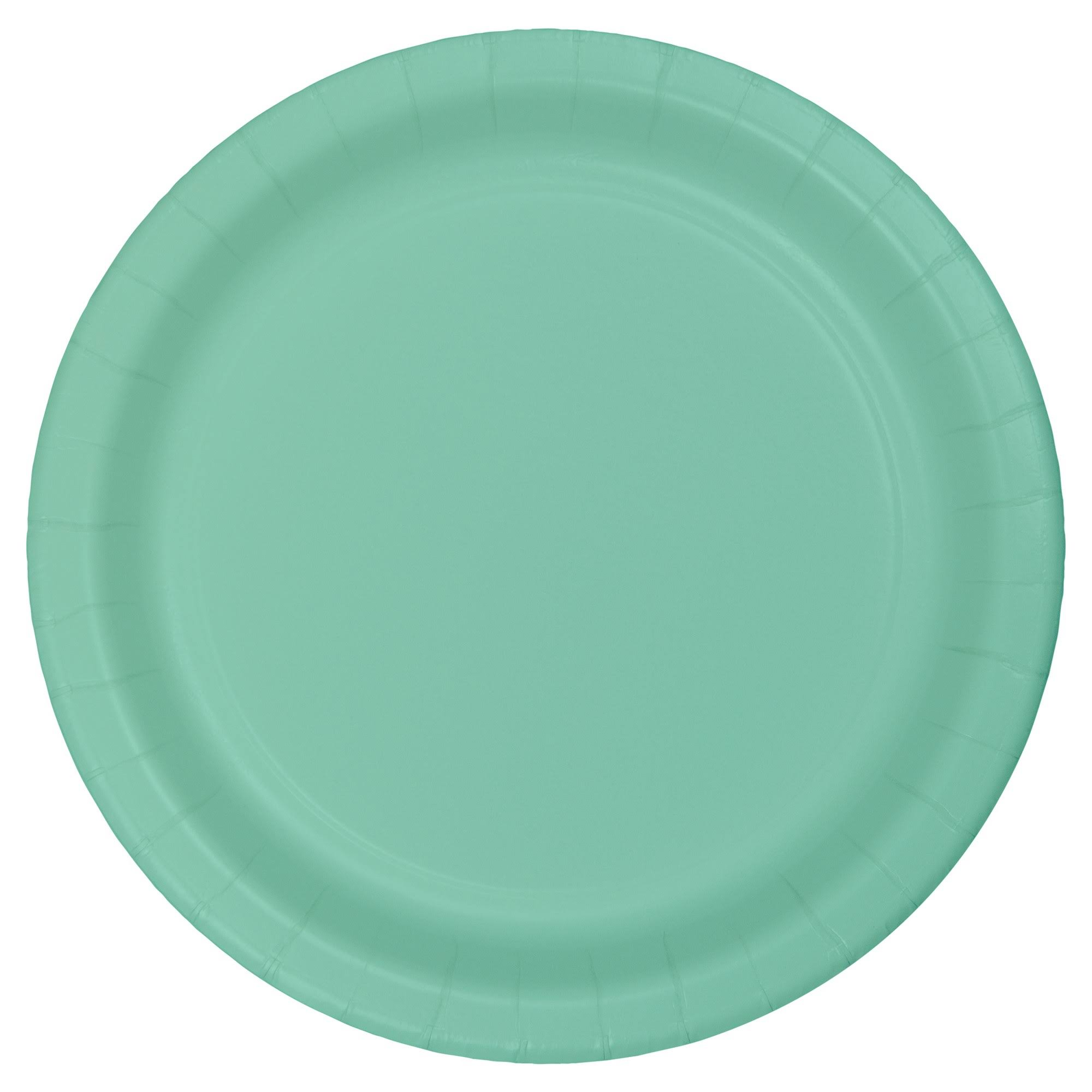 "Creative Converting 318888 Paper Dinner Plate - 9"", Fresh Mint, 24ct"