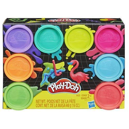 Play-Doh Neon Non Toxic Modeling Compound 8 Colors Clay Set - 8pk