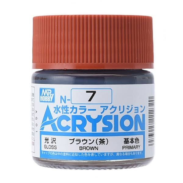 GSI Creos Mr. Hobby Acrysion Color N7 Gloss Brown 10ml Acrylic Paint
