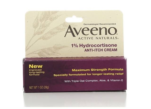 Aveeno Active Naturals Anti-Itch Cream - 1oz
