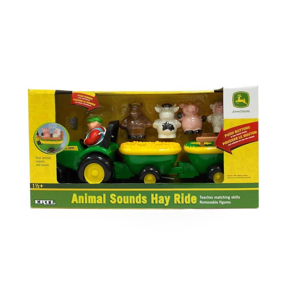 John Deere Animal Sounds Hay Ride Toy