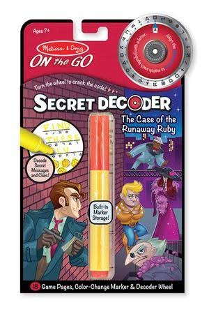 Melissa & Doug On The Go Secret Decoder Deluxe