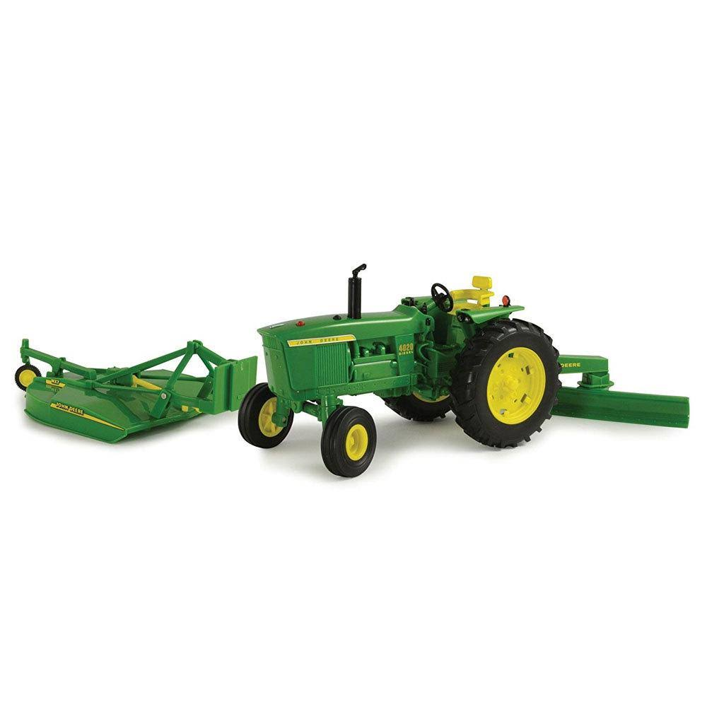John Deere 630 with Mounted Picker and Flarebox Wagon Tractor Diecast Vehicle - 1:16 Scale