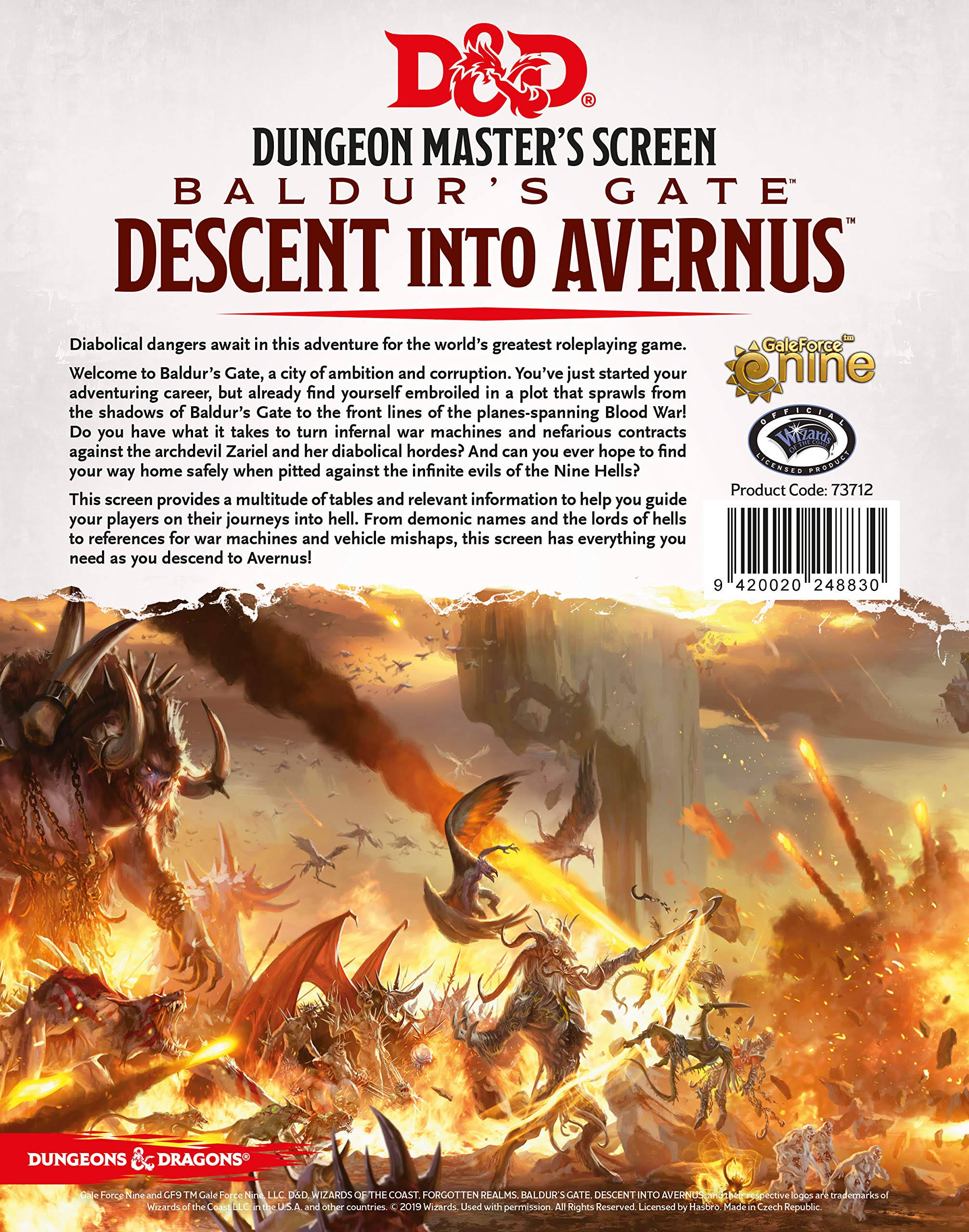 Dungeons And Dragons: Baldur's Gate, Descent Into Avernus Dice Set