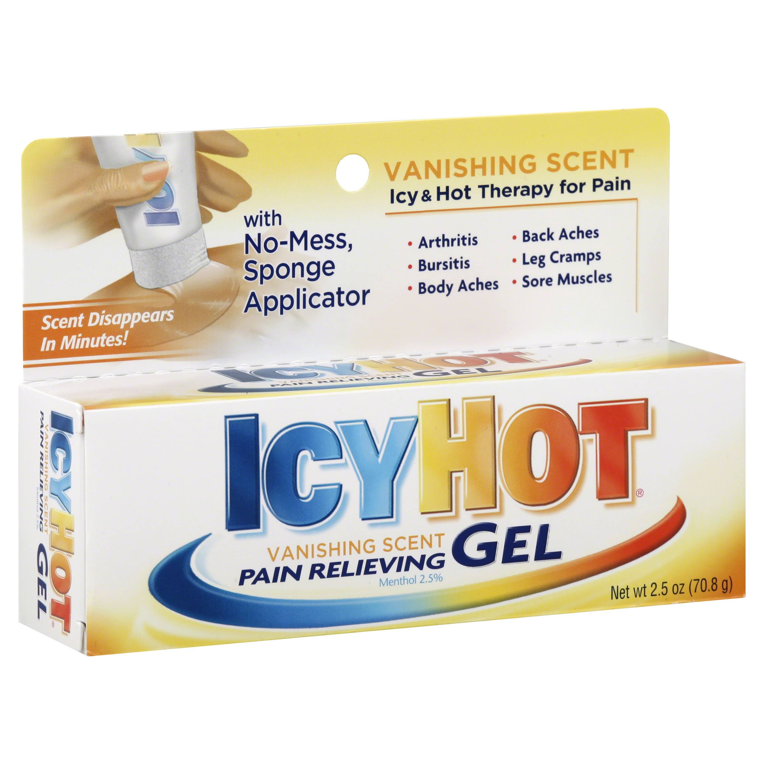 Icy Hot Vanishing Scent Pain Relieving Gel - 2.5oz