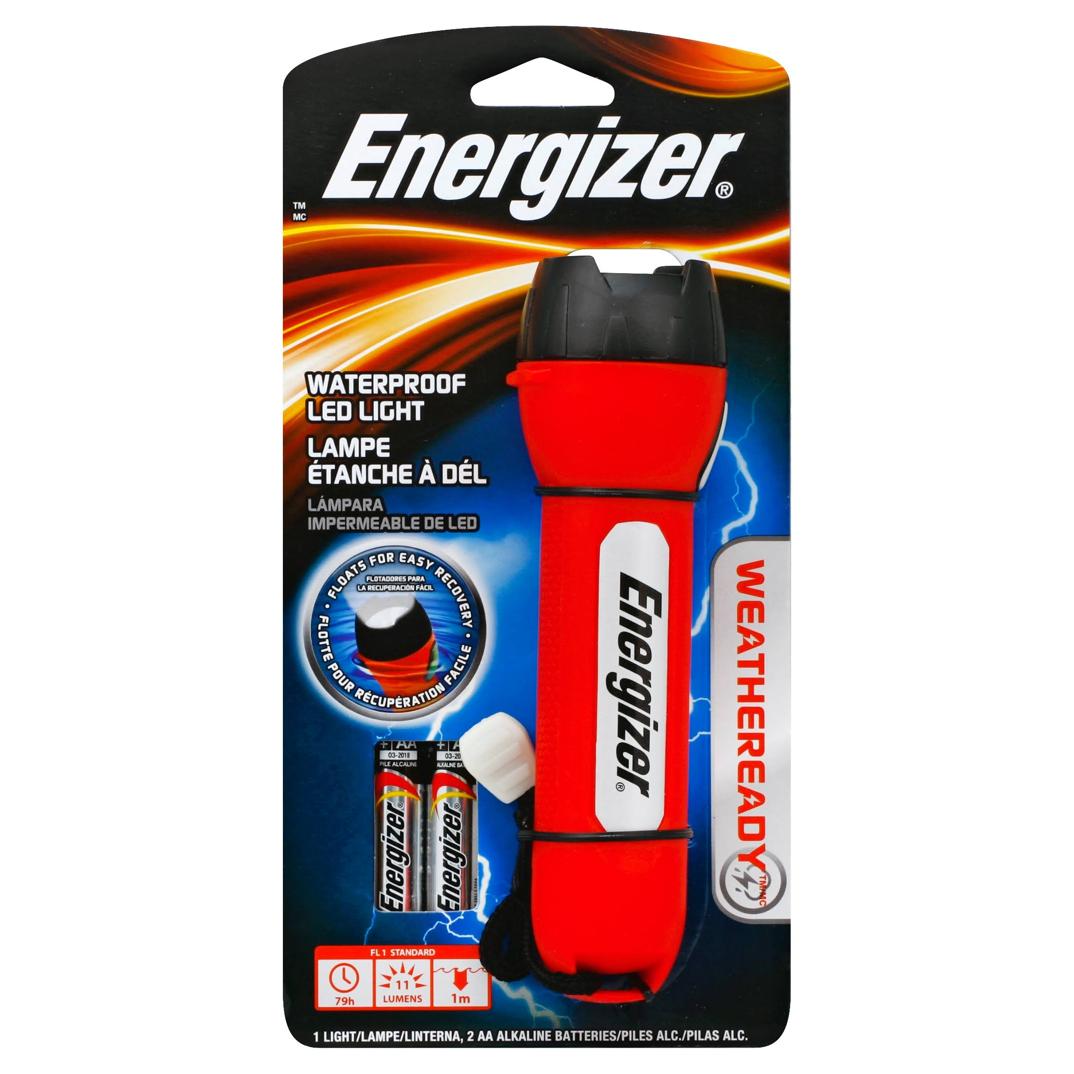 Energizer Weatheready LED Light - Red