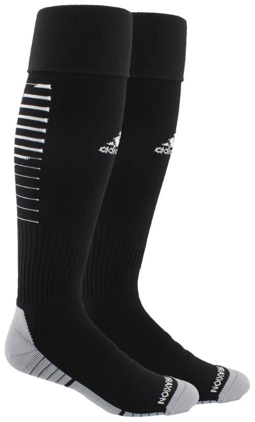 Adidas Team Speed II Soccer Sock - Black/White