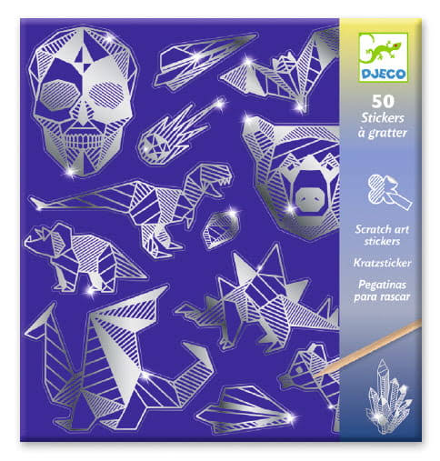 Djeco Scratch Art Stickers Iron