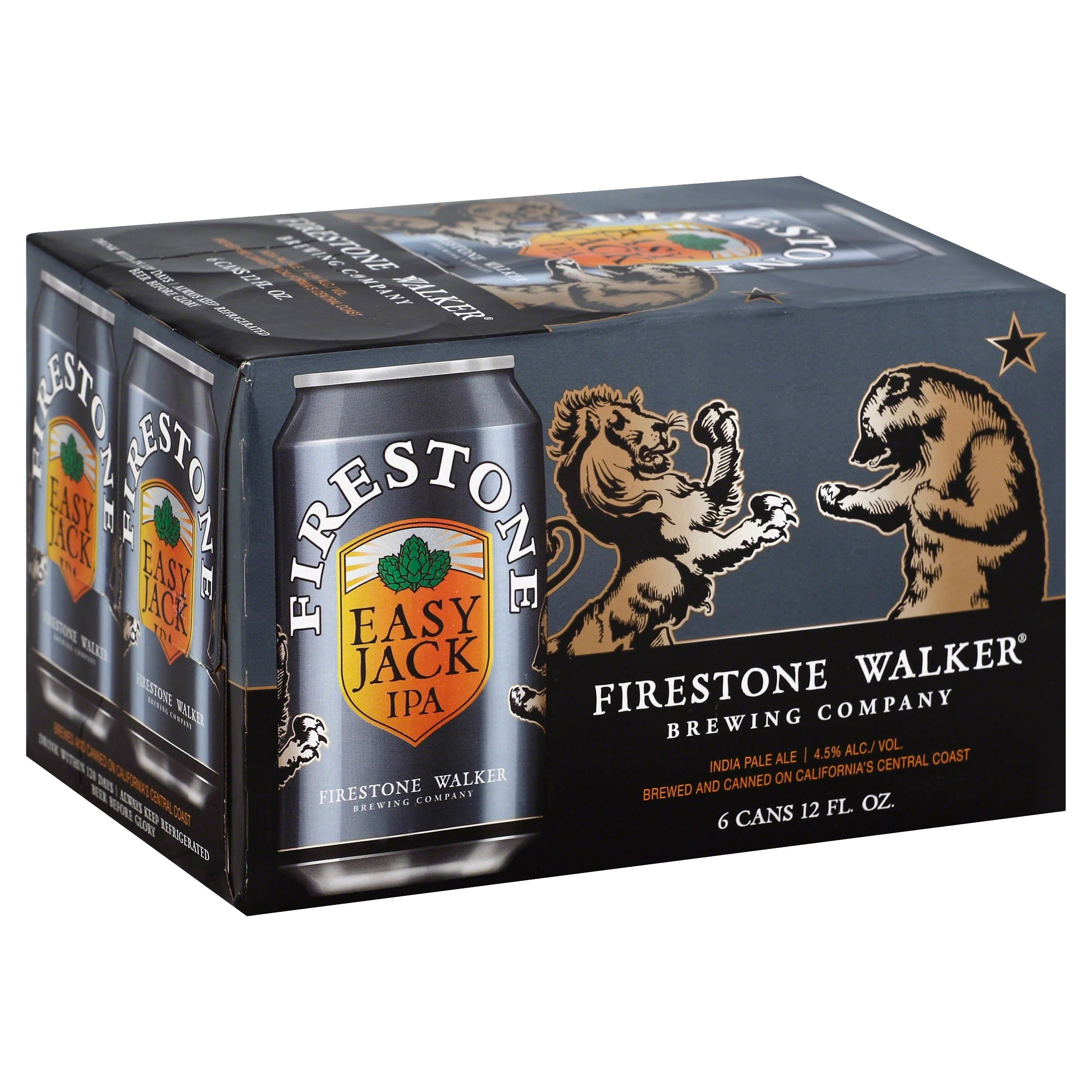 Firestone Walker Beer, India Pale Ale, Easy Jack IPA - 6 pack, 12 fl oz cans