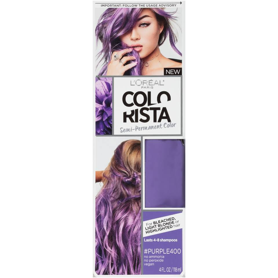 LOreal Paris Colorista Semi Permanent Hair Color - Purple, 4oz