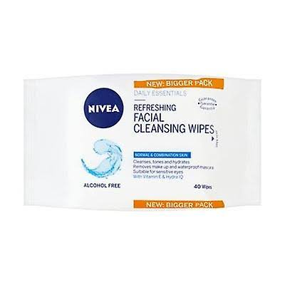 Nivea Refreshing Facial Cleansing Wipes - 40 Pack