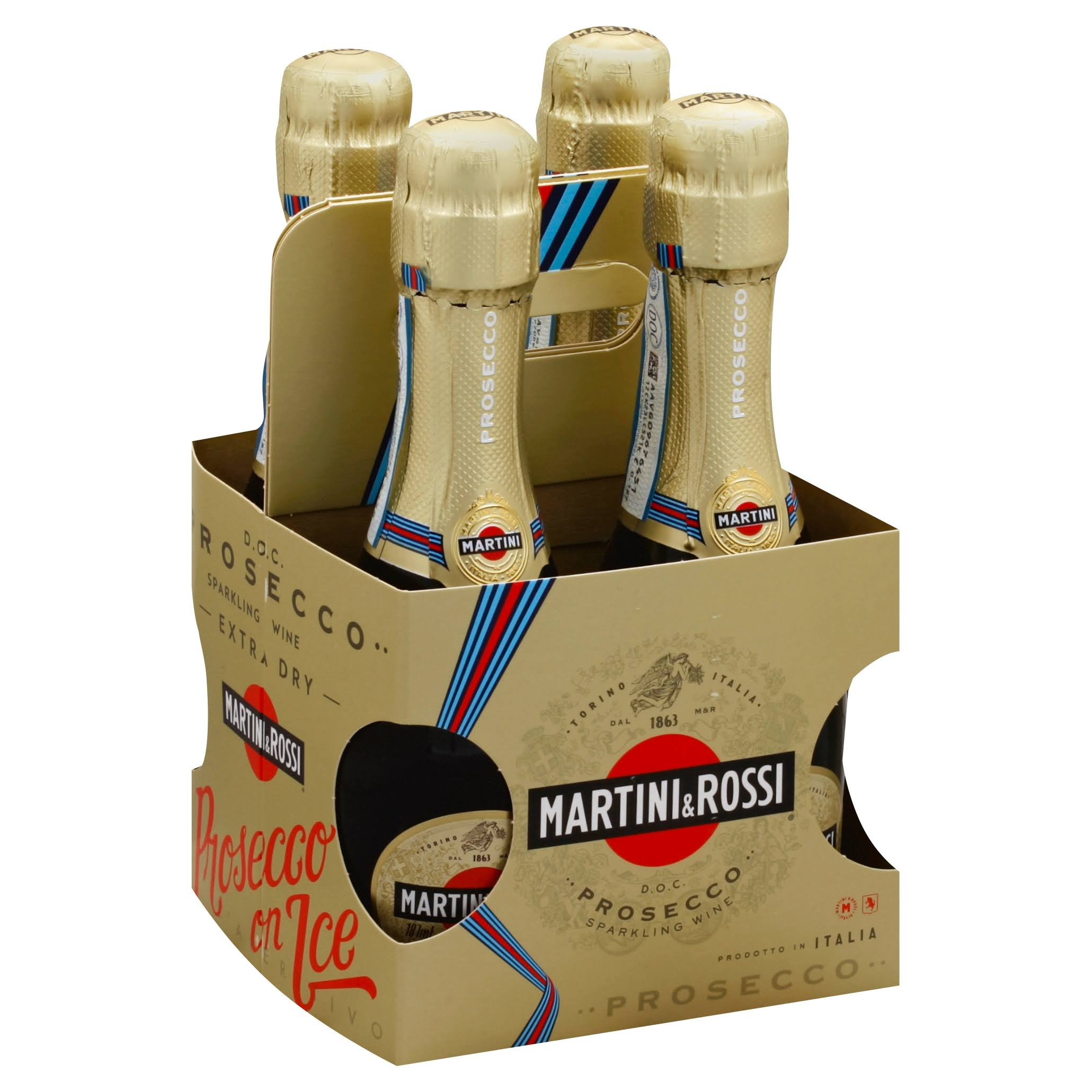 M & R Prosecco, Italy (Vintage Varies) - 4 pack, 187 ml bottles