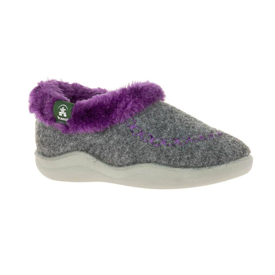 Kamik CozyCabin2 - Girls 9 Toddler Grey Slipper Medium