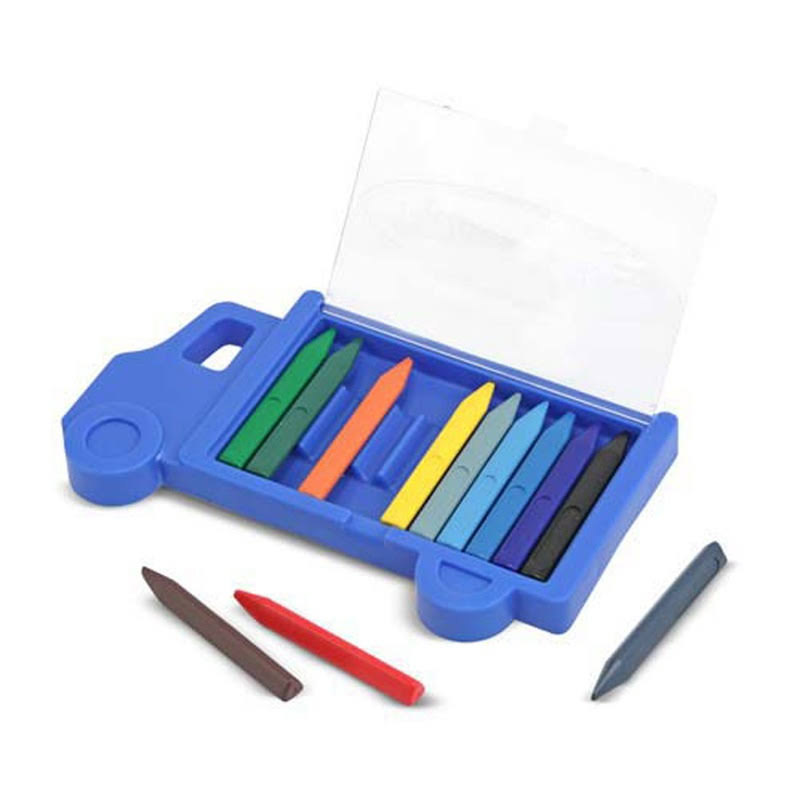 Melissa & Doug Truck Crayon Set - 12 Vibrant Colors