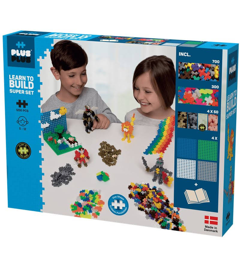 Plus Plus Basic Learn to Build Mega Blocks - 1200pcs