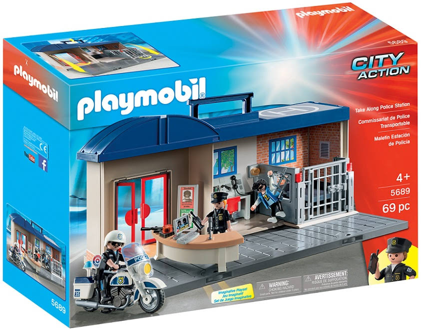 Playmobil 5689 City Action Take Along Police Station - 69 Pieces