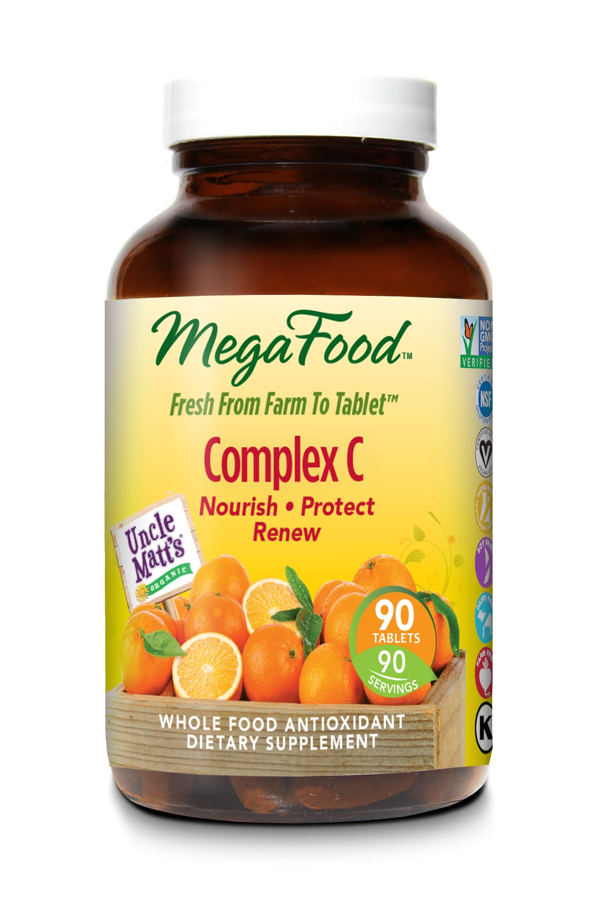 MegaFood Complex C Dietary Supplement - 90 Tablets