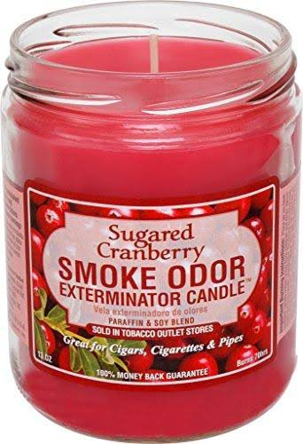Smoke Odor Exterminator Candle, Sugared Cranberry, 13 oz