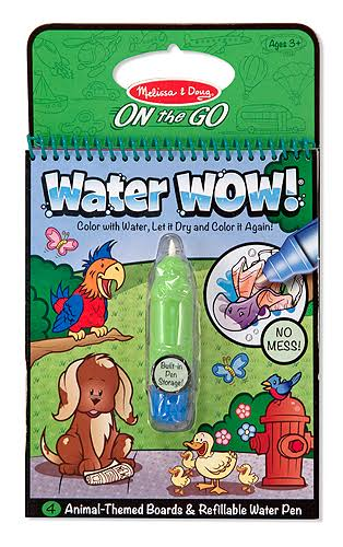 Melissa & Doug On The Go Water Wow Colouring Book - Animals