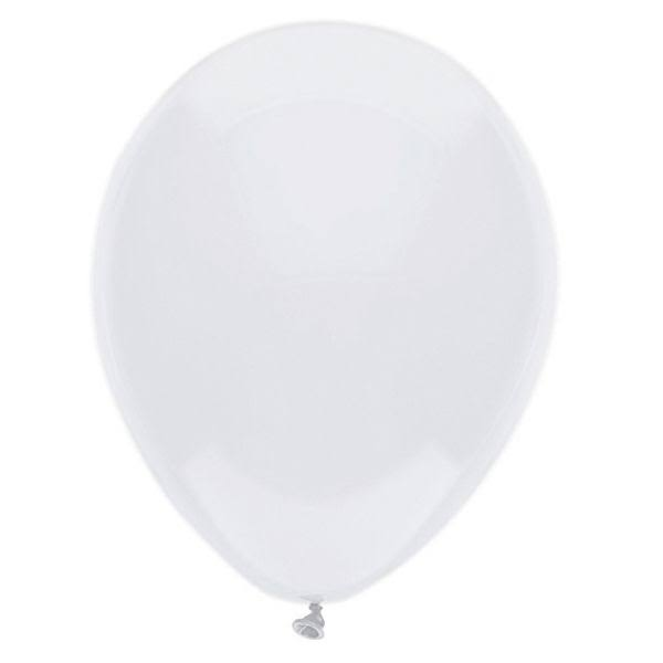 PartyMate Round Solid Color Latex Balloons - 15ct, Bright White, 12in