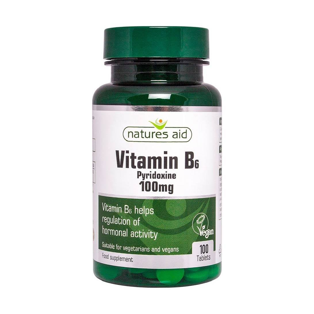 Natures Aid Vitamin B6 Supplement - 100 Tablets