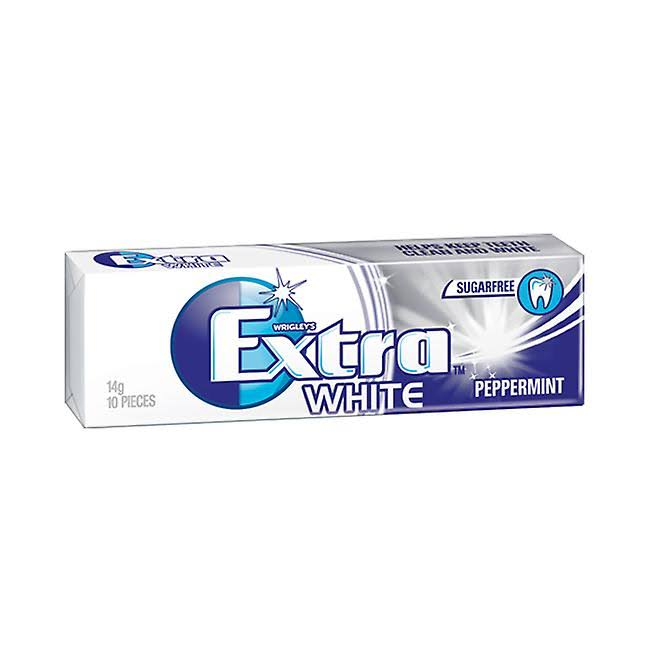 Wrigley's Extra White Sugar Free Chewing Gum - 10pcs