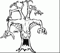 Scary Halloween Coloring Pages Online by Great Spooky Ghost Coloring Pages Printable With Scary Coloring