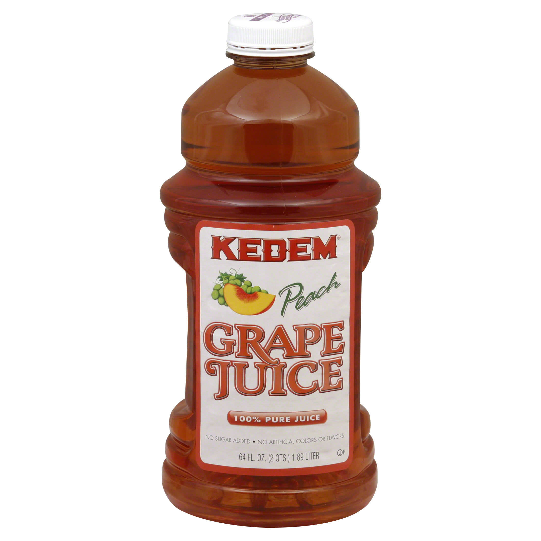 Kedem 100% Juice, Pure, Grape Peach - 64 fl oz
