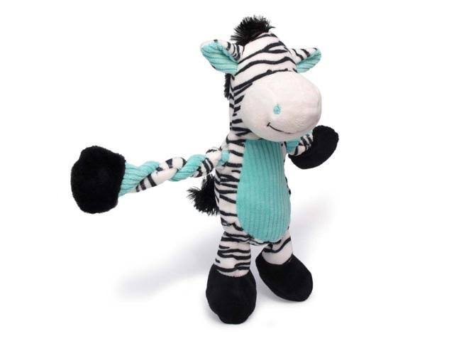 Charming Pet Pulleez Zebra Plush Dog Toy
