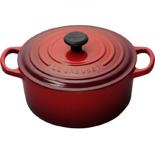 Le Creuset Round French Enameled Cast Iron Pot - 2qt, Cherry Red