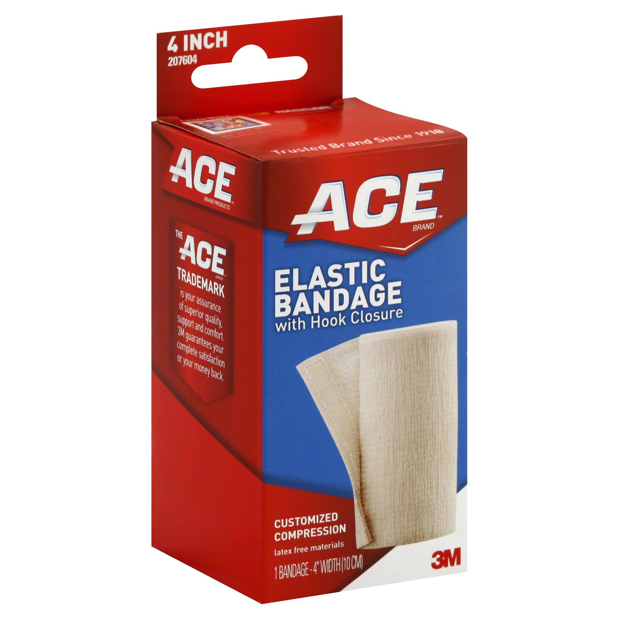 Ace Elastic Bandage with Hook Closure - 4''