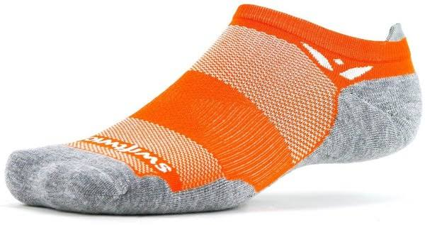 Swiftwick Maxus Zero Tab Socks - No Show Citrus Large