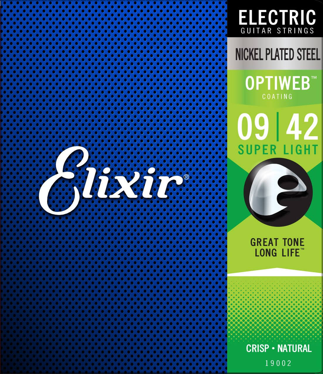 Elixir 19002 Optiweb Electric Guitar Strings Super Light 9-42