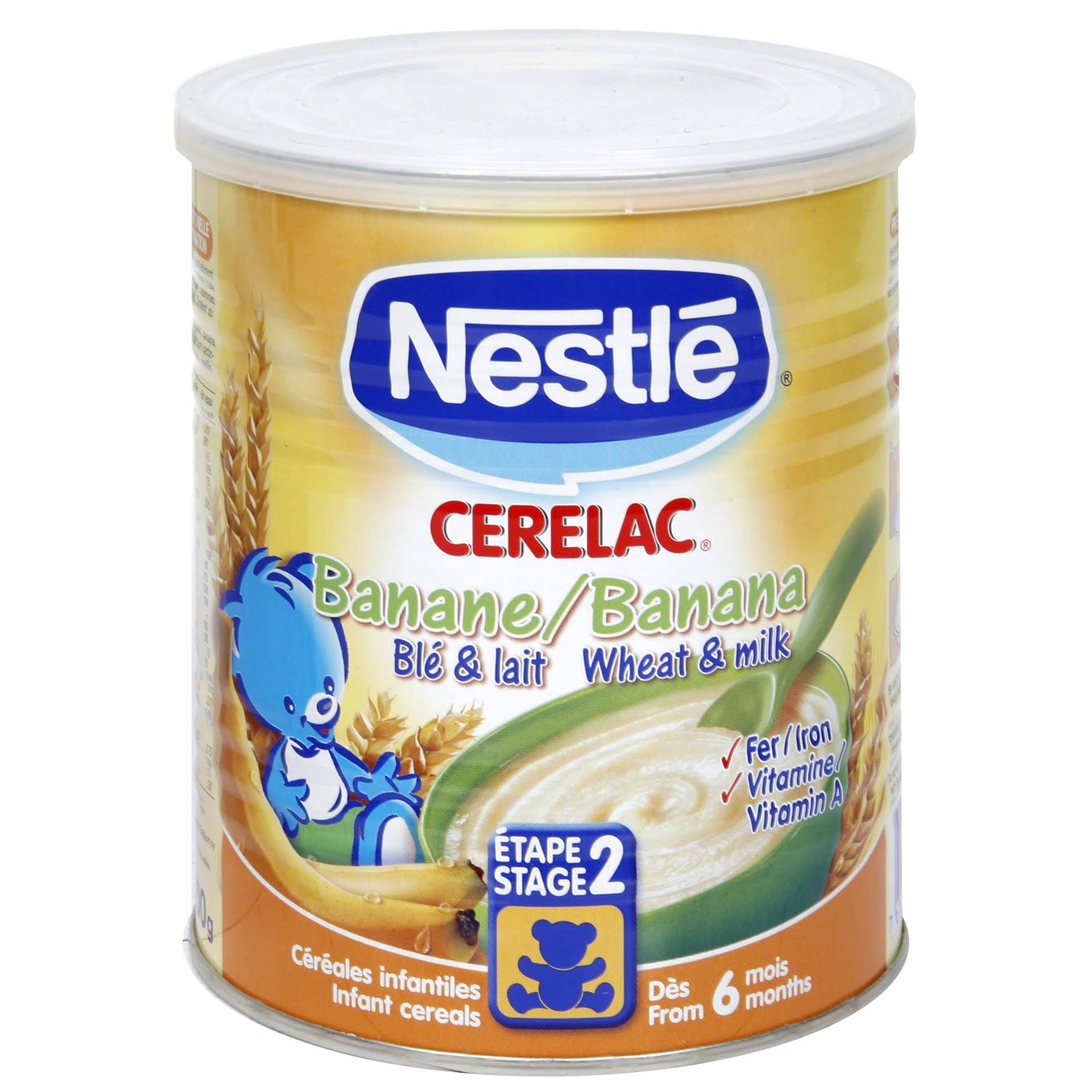 Nestle Cerelac Infant Cereal - Banana and Wheat with Milk, from 7 Months, 400g