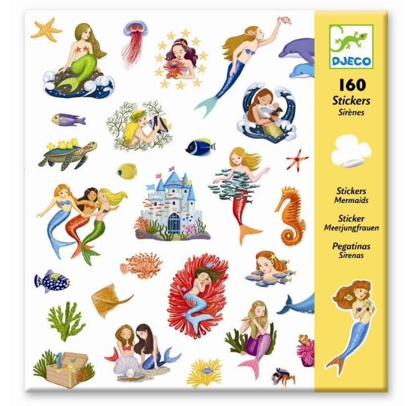Djeco DJ08885 Mermaid Stickers Set - 160pcs