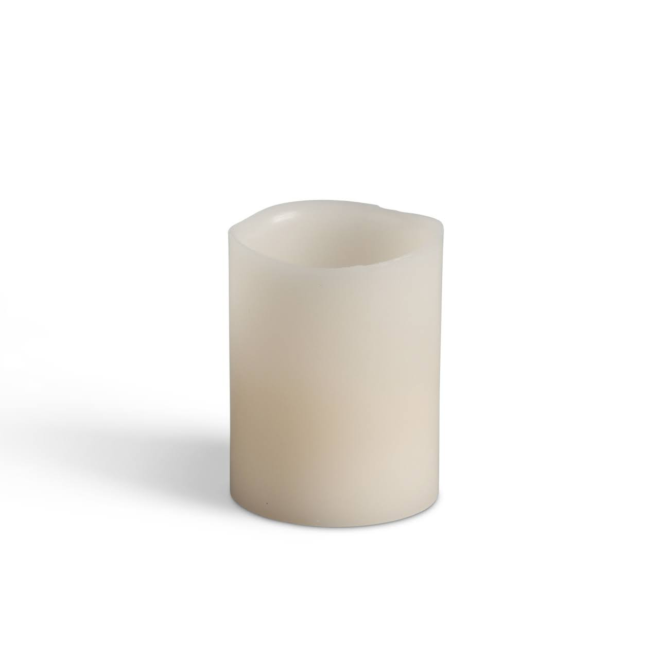 "Gerson Bisque Votive Wavy Edge Battery Operated LED Wax Candle Light - with Timer, 2"" x 2.5"""