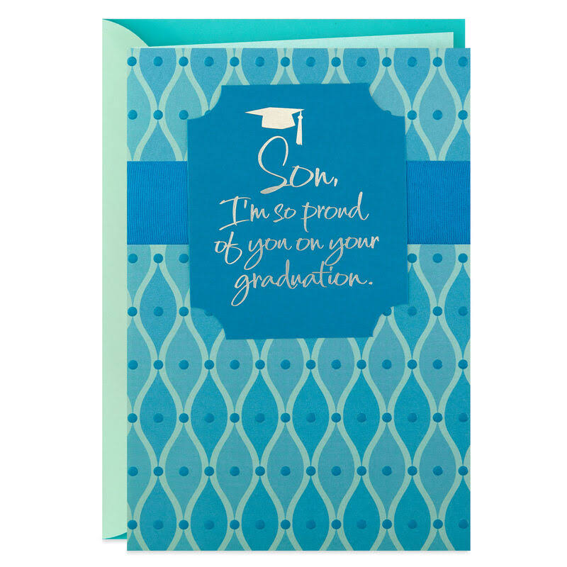 Proud of You Graduation Card for Son