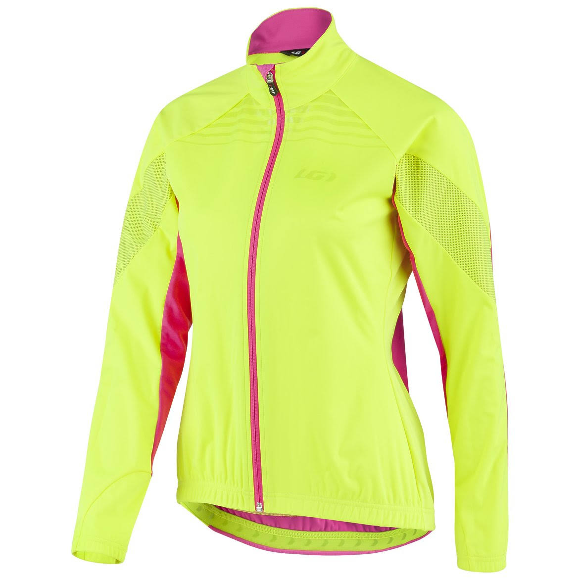 Louis Garneau Glaze 3 RTR Jacket - Women's Yellow Pink, L