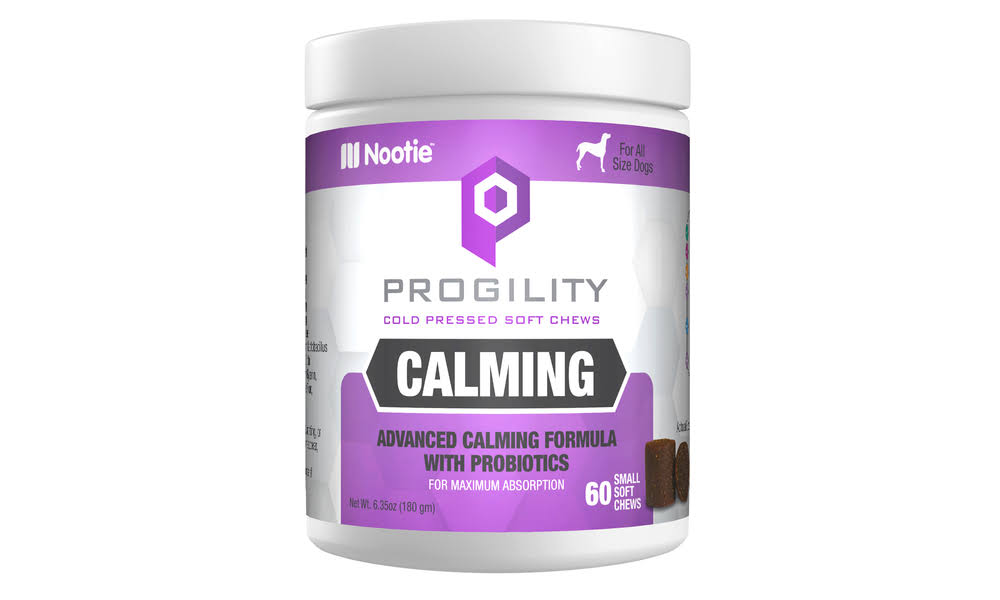 Progility - Calming - Cold Pressed Soft Chews (60 or 90 Count) Multi-color Calming - Small Size Soft Chew - 60 Count