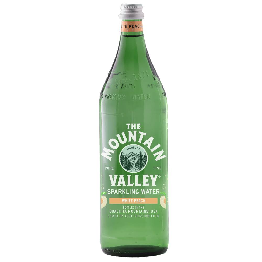 The Mountain Valley White Peach Sparkling Water - 33.8 fl oz