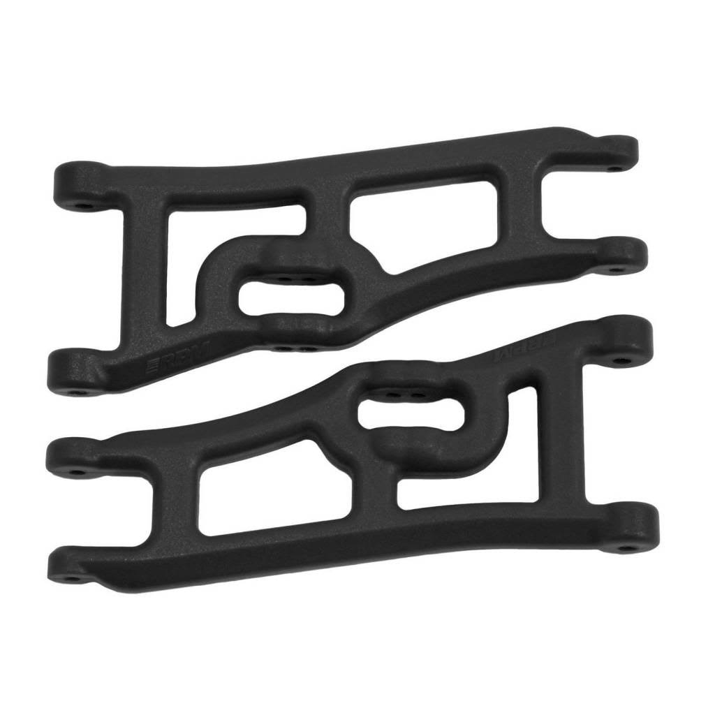 RPM Wide Front A-Arms for Traxxas E-Rustler & Stampede 2WD - Black