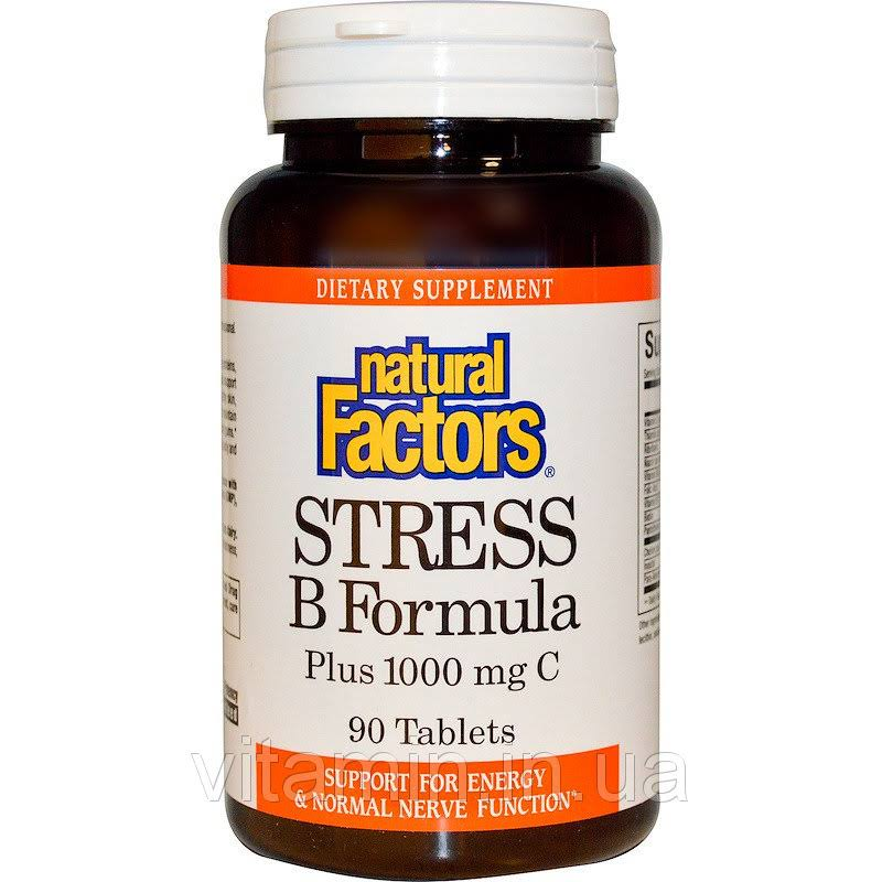 Natural Factors Stress B Formula Supplement - 90 Tablets