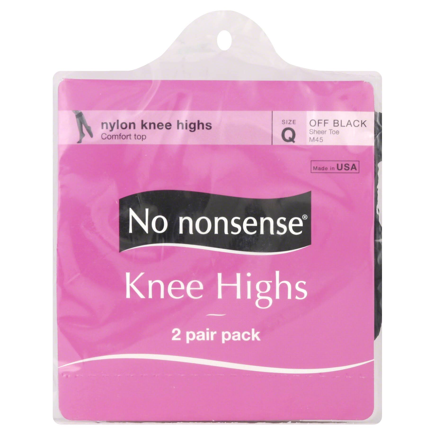No Nonsense Knee Highs - Off Black, 2 Pack