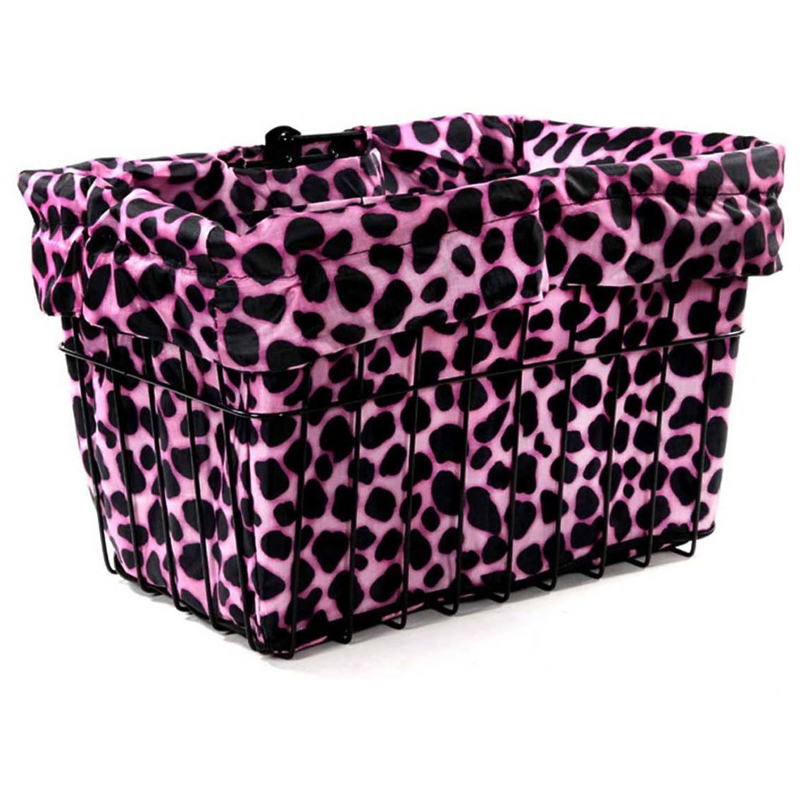 Cruiser Candy Reversible Bike Basket Liner - Pink Dalmatian