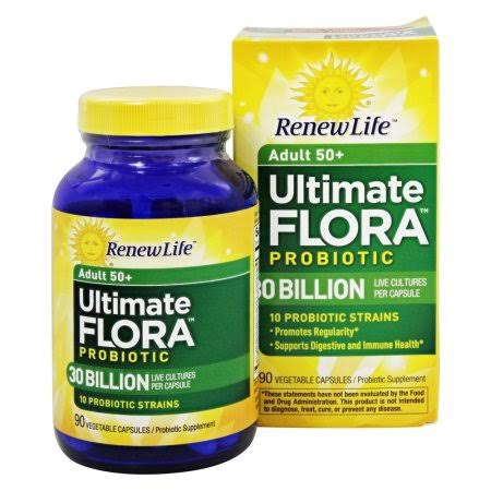 Renew Life Ultimate Flora Probiotic - 90 Vegetable Capsules