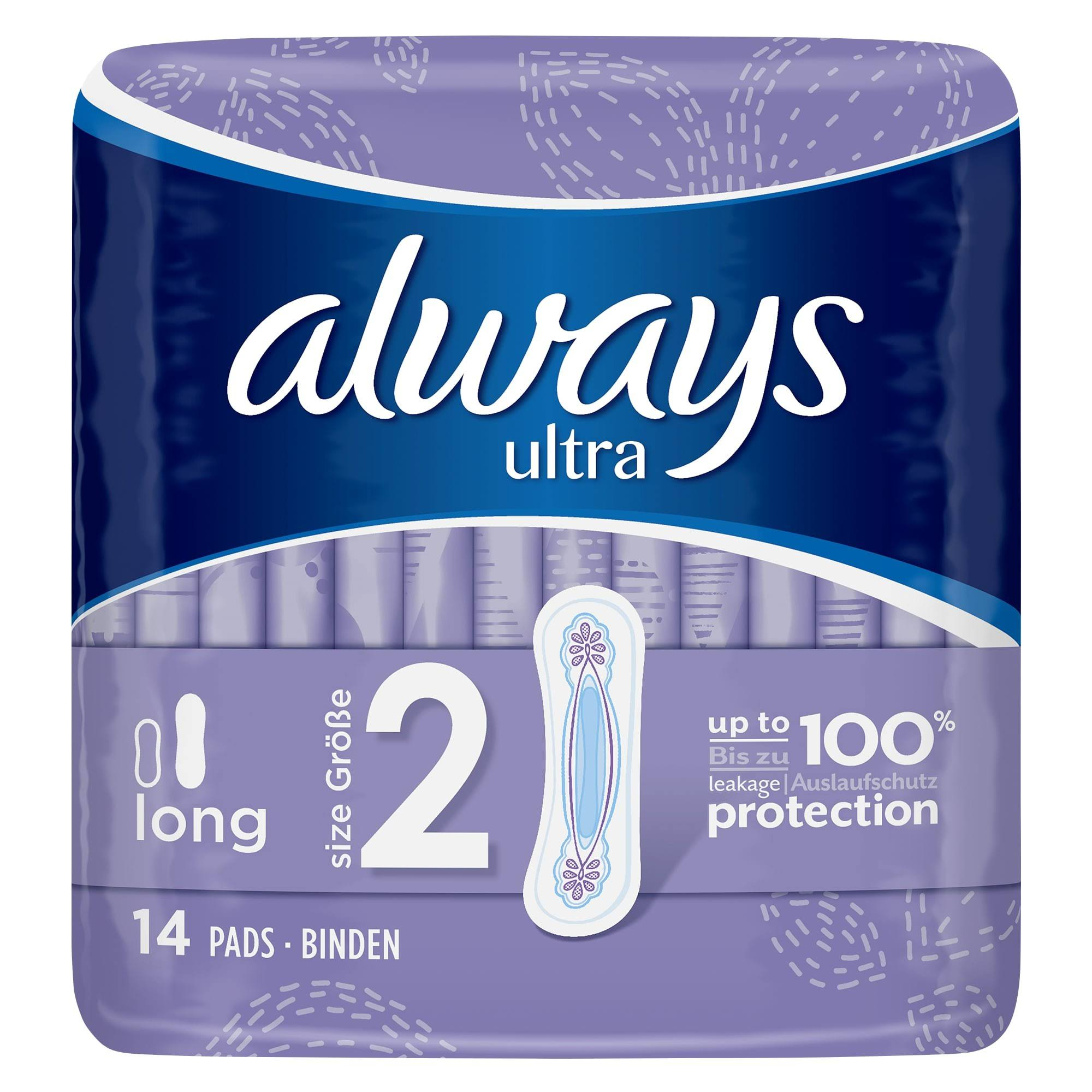 Always Ultra Long Sanitary Pads - x14