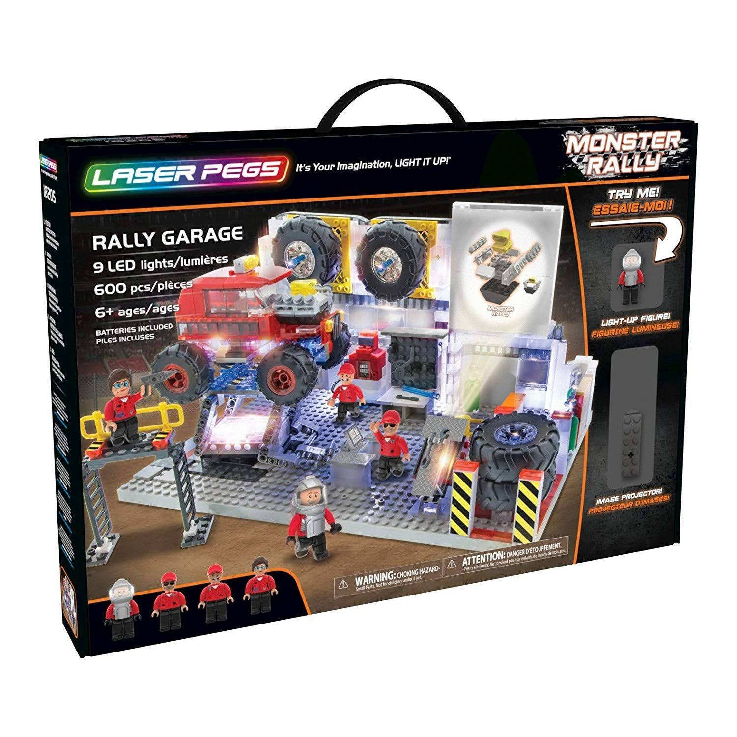Laser Pegs 18205 Rally Garage Construction Kit